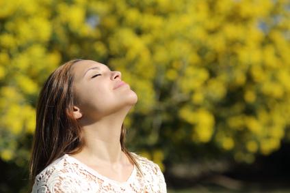 Exercice de respiration profonde